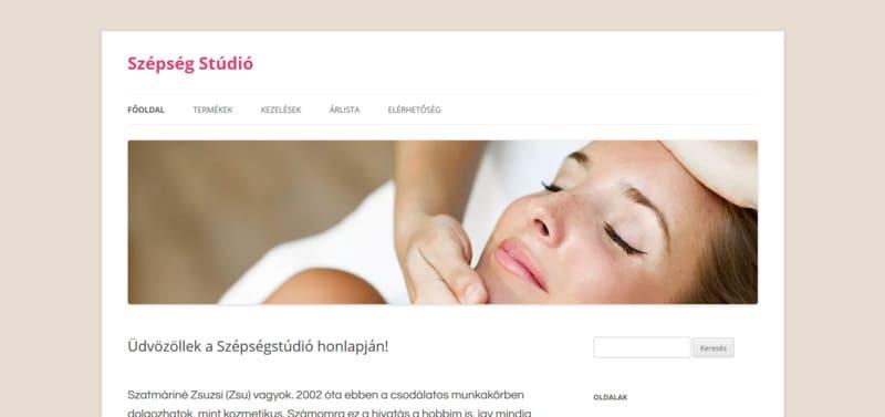 A budaikozmetika.hu honlap nyitóképe.