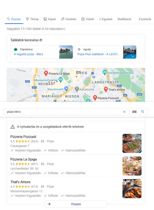 Google Cégem találatok